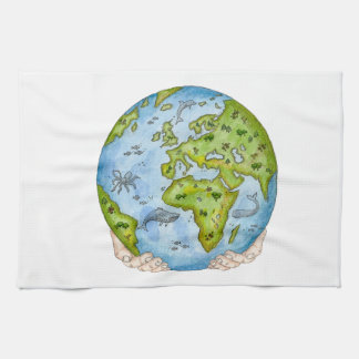 Earth in our hands tea towels