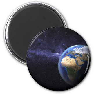 Earth in space 6 cm round magnet