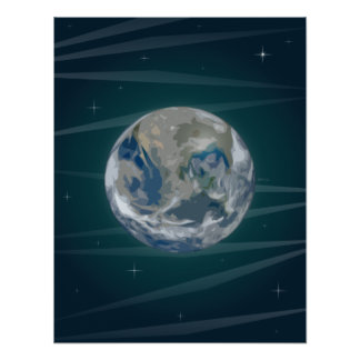 Earth In Space Poster