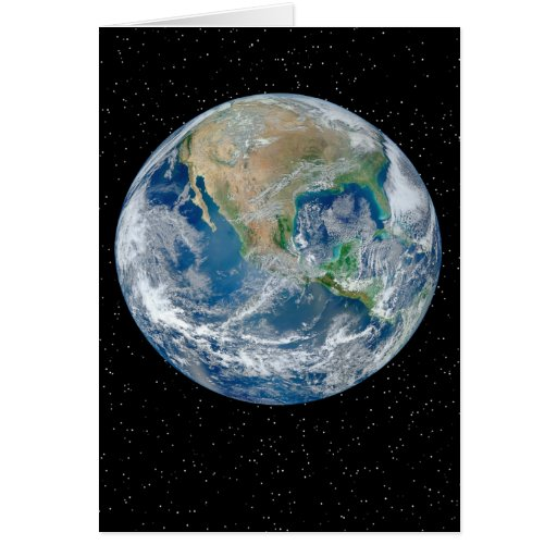 Earth In Star Field - Multiple Products Greeting Cards