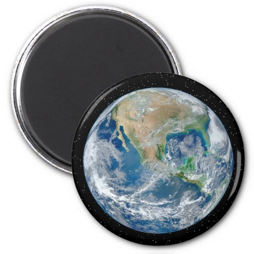 Earth In Star Field - Multiple Products Fridge Magnets