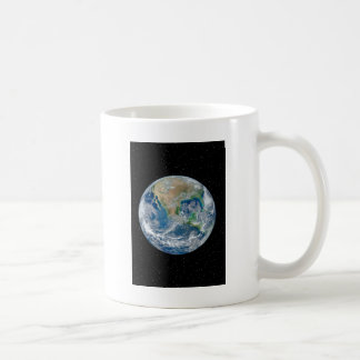 Earth In Star Field - Multiple Products Basic White Mug