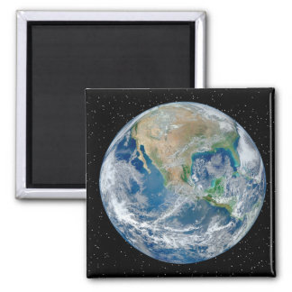 Earth In Star Field - Multiple Products Square Magnet