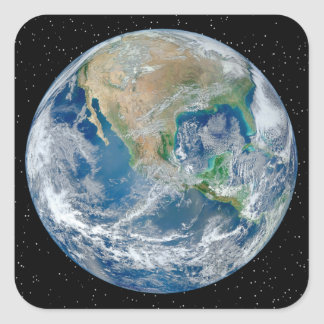 Earth In Star Field - Multiple Products Square Sticker