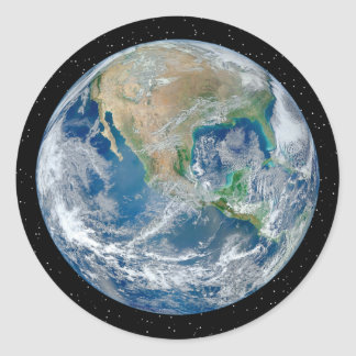 Earth In Star Field - Multiple Products Round Sticker