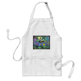 Earth Invasion 4 Dummies Funny Gifts Tees & Mugs Standard Apron