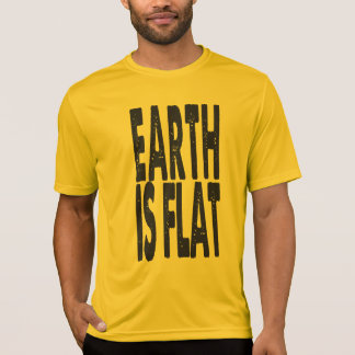 Earth is Flat - CLASSIC GOLD T-Shirt