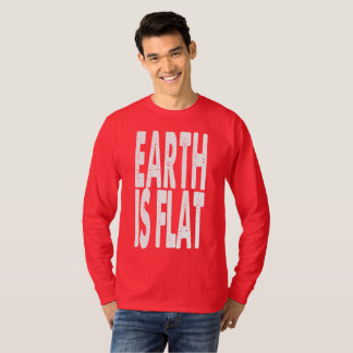 Earth is Flat - CLASSIC RED T-Shirt