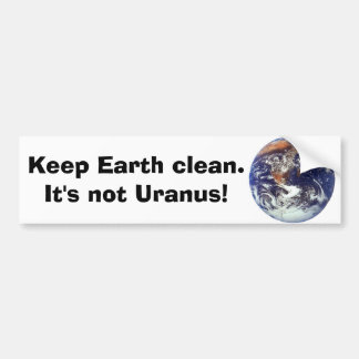 Earth, Keep Earth clean. Bumper Sticker