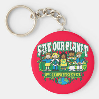 Earth Kids West Virginia Key Ring