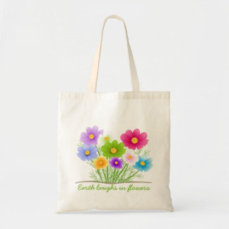Earth Laughs In Flowers Natural Budget Tote Bag