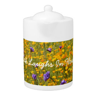 Earth Laughs In Flowers Poppies Teapot