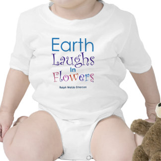 """Earth Laughs In Flowers"" Ralph Waldo Emerson Romper"