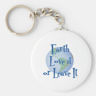 Earth Love Basic Round Button Key Ring