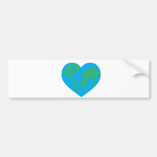 Earth Love Car Bumper Sticker