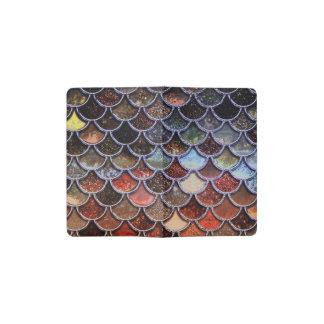Earth Luxury Glitter Mermaid Scales Pocket Moleskine Notebook