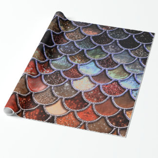 Earth Luxury Glitter Mermaid Scales Wrapping Paper