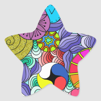 Earth Mandala Star Star Sticker