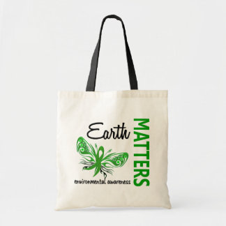 Earth Matters Butterfly Environmental Awareness Canvas Bags