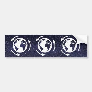 Earth Moists Minimal Bumper Sticker