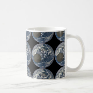 Earth & Moon's Far Side From Space Basic White Mug