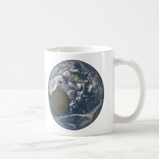 Earth & Moon's Far Side From Space Basic White Mug