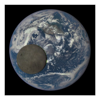 Earth & Moon's Far Side From Space Poster