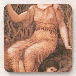 Earth Mother by Edward Burne-Jones Beverage Coaster