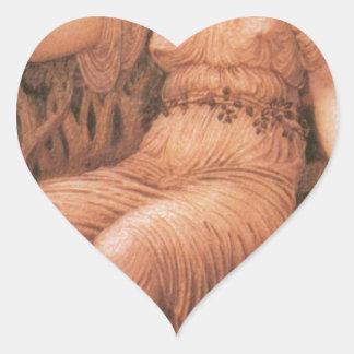 Earth Mother by Edward Burne-Jones Heart Sticker