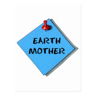 EARTH MOTHER MEMO POSTCARD