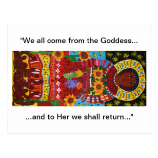 Earth Mother with earthworms Postcard