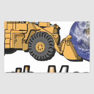 Earth Mover Rectangle Stickers
