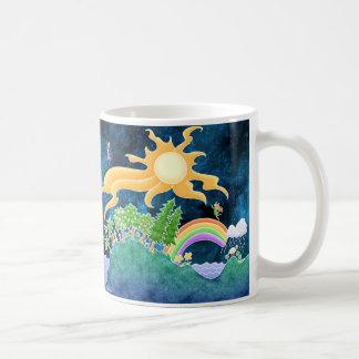 Earth Mug - rainbow forest