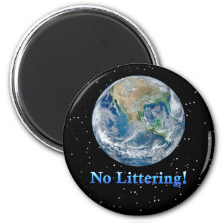 Earth No Littering - Multiple Products 6 Cm Round Magnet