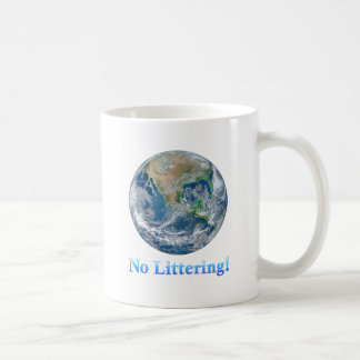Earth No Littering - Multiple Products Basic White Mug