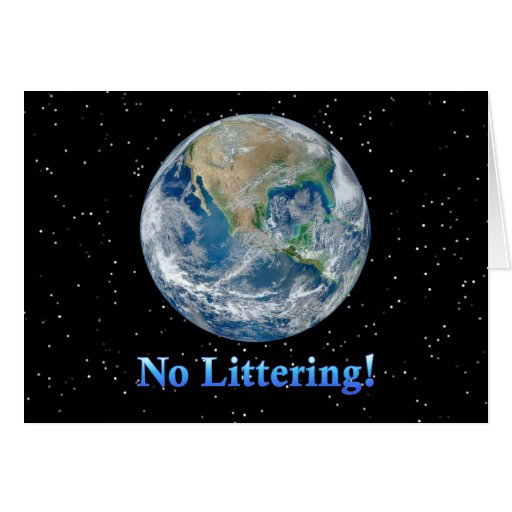 Earth No Littering - Multiple Products Cards