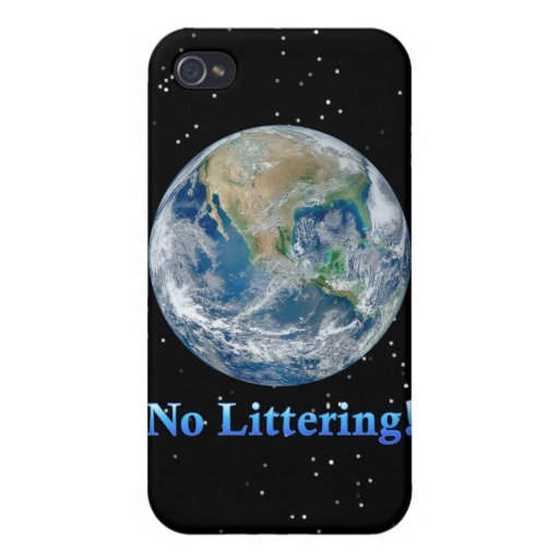 Earth No Littering - Multiple Products iPhone 4/4S Cover
