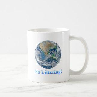 Earth No Littering - Multiple Products Basic White Mug