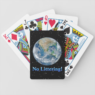 Earth No Littering - Multiple Products Poker Deck