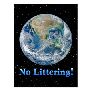 Earth No Littering - Multiple Products Post Cards