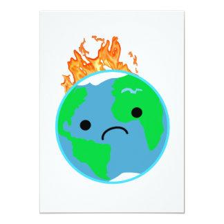 Earth On Fire Card