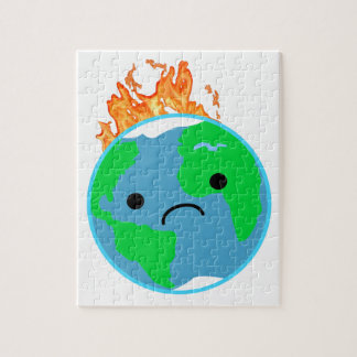 Earth On Fire Jigsaw Puzzle