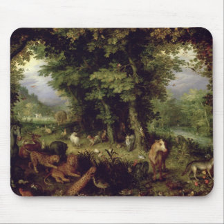 Earth or The Earthly Paradise, 1607-08 (oil on cop Mouse Pad