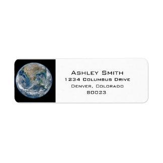 Earth our world return address label