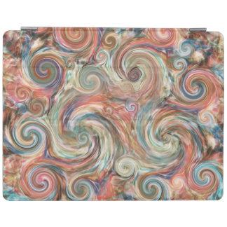 Earth Pastel Swirls Colourful iPad Cover