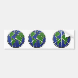 Earth Peace Bumpersticker Bumper Sticker