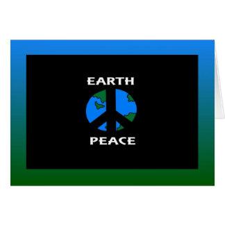 Earth Peace Greeting Card