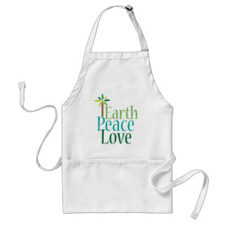 Earth Peace Love Earth Day Gifts Apron