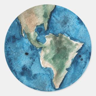 Earth Planet Watercolor Sticker