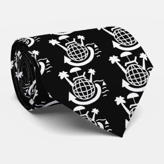 Earth Planets Pictograph Tie